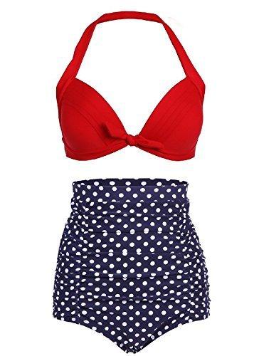 Baddi Women S Retro High Waist Bikini Swimsuit Vintage