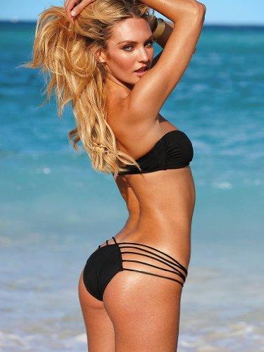 Ensasa Sexy Mini Micro Brazilian Black Tiny String Bikini ...